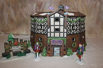 "*MINT* Dept 56 ""THE OLD GLOBE THEATRE""  #58501 Dickens Village Set of 4 w/ box"