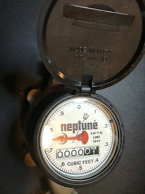 Neptune 5/8 T-10 NSF61 3026 Water Meter  Never Used New/Other Free Fast Shipping