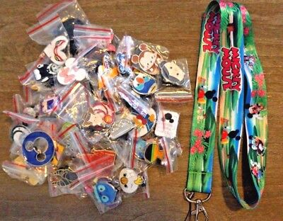Disney World 25 Pin Trading Lot Lanyard Starter Minnie Mickey Mouse Clubhouse