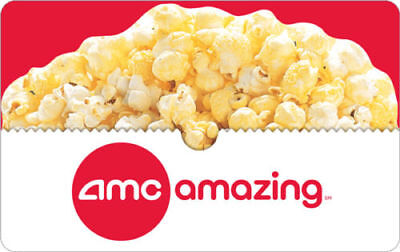 $50 AMC Physical Gift Card + Free Popcorn Voucher -FREE 1st Class Mail Delivery!