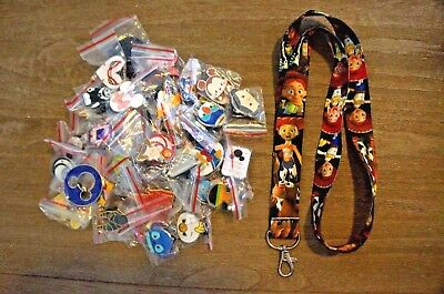 Disney World 25 Pin Trading Lot Lanyard Starter Set Toy Story Jessee