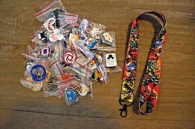 Disney World 25 Pin Trading Lot Lanyard Starter Set Marvel Characters Red