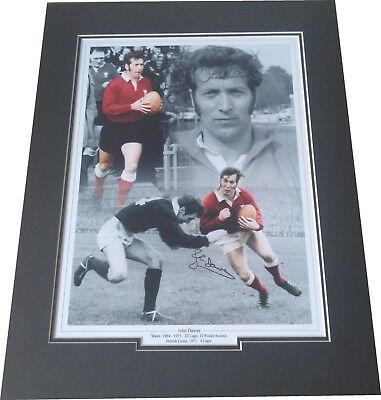 John Dawes - Wales Rugby Union Signed 16x12 Montage Photo Mounted