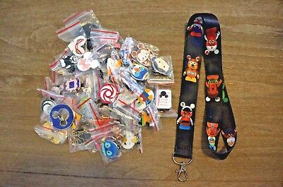 Disney World 25 Pin Trading Lot Lanyard Starter Set Toy Story Vinylmations