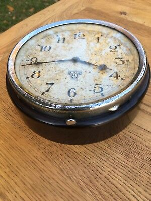 Vintage Retro Bakelite Smiths wall clock, good working order