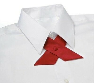 RED Satin Crossover Tie