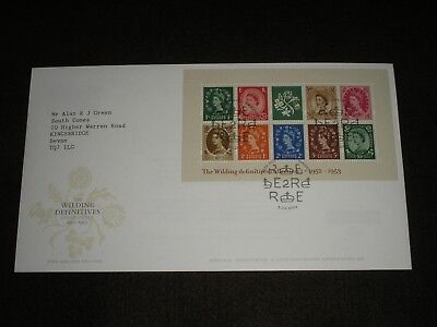 2002 GB Stamps WILDING MINI SHEET First Day Cover WINDSOR Special Cancels FDC