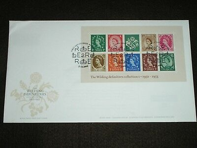 2002 GB Stamps WILDING MINI SHEET First Day Cover WINDSOR Special Cancels FDC #2