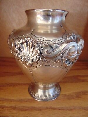 Antique .833 Dutch Silver Vase