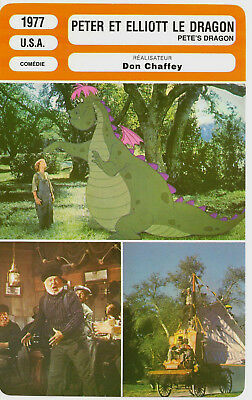 Fiche Cinema - Peter Et Elliott Le Dragon - Disney - Mickey Rooney
