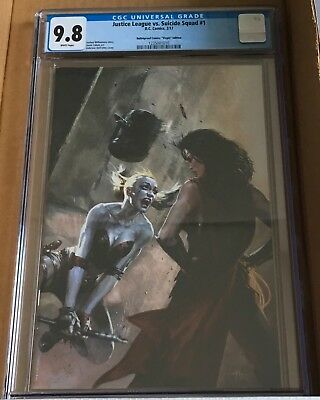 Justice League vs. Suicide Squad #1 Bulletproof Virgin edition 9.8 cgc!