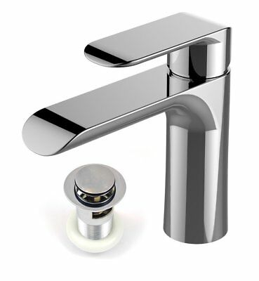 Modern Basin Sink Tap Square Mixer Chrome Small Mono Luxury Cloakroom Faucet UK