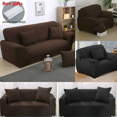 1/2 Sofa Covers Couch Slipcover Stretch Elastic Fabric Settee Protector Fit NEW