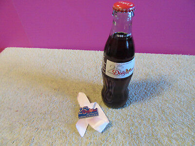 Dollywood 25th anniversary Coca Cola 8 oz bottle & pin full sealed Dolly Wood