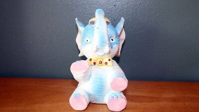 "Vintage 1950s Elephant Piggy Bank 6.5"" Tall"