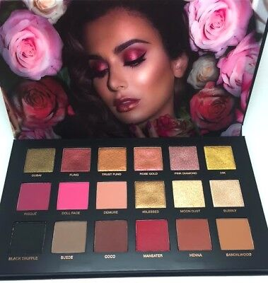 Huda Beauty Remastered Rose Gold Nude Eyeshadow Palette Desert Dusk Highlighter