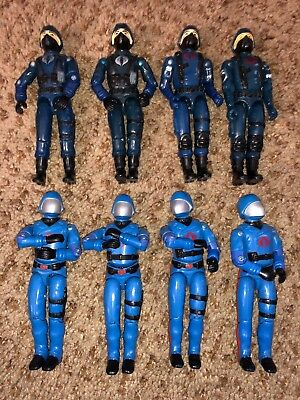 Lot of 8 GI JOE 1982-1983 Cobra Commanders & Officers Action Figures Vintage