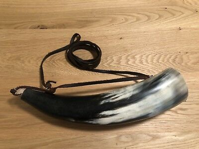 Natural Medieval Viking, Norse, Celtic Drinking And Blowing Horn