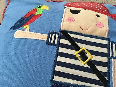 Little Sailor Beautiful Blue Appliqué Cushion