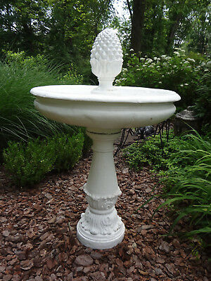 Large Estate Garden Outdoor Concrete Stone Water Fountain Birdbath Lawn Ornament