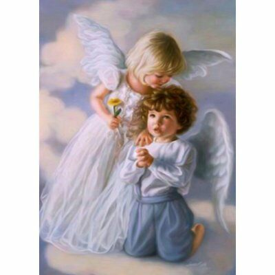 DIY Angel Pattern Art Painting Handmade Full Diamond Painting Wall Decoration MT