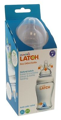 Munchkin Latch Bottle 240ml / 8oz with Stage 1 Teat - 0 Months+ (EU Packaging)
