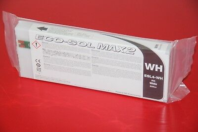 WHITE ROLAND ECO-SOL MAX 2 INK  220cc ESL4-WH Sealed in package NIP Never Opened