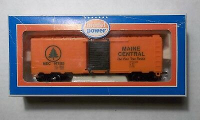 HO Scale MODEL POWER Maine Central 14785 Boxcar, New in Box