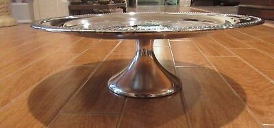 Vintage F.B.  Rogers Silverplate Cake Stand Pedestal Plate