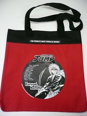 Anime Viz Rurouni Kenshin Saikano Manga Tote Bag Red Convention Exclusive