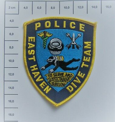 Polizei  / Police Patch - USA - Connecticut - East Heaven - Taucher Team