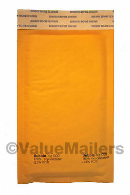 #000 Bubble Lite 4x8 Kraft Bubble Mailers Padded Envelopes Bags 100, 500 To 2000