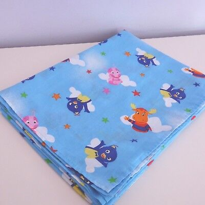 The BACKYARDIGANS Toddler Bed Size FLAT SHEET Poly/Cotton Fabric 2007 Viacom