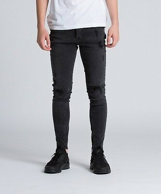King's Will Dream Junior Romer Ripped Skinny Denim Jean Black