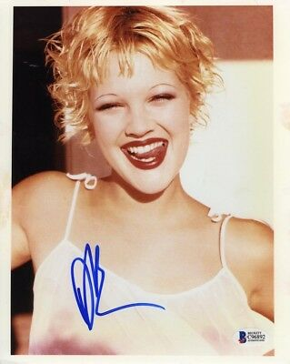 Drew Barrymore Sexy Autographed Signed 8x10 Photo Certified Authentic BAS COA