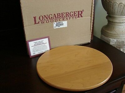 """Longaberger Classic Stain Wood Woodcrafts 11"""" Round Lid Shelf for Umbrella Stand"""