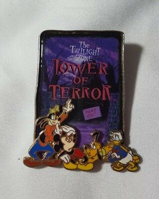 Tower of Terror FAB 4 3D Goofy Mickey Mouse Pluto and Donald Disney Pin 28509