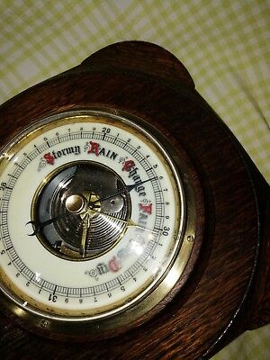 Old Barometer With Enamel Dial  Boe2