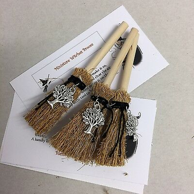 WITCHES TREE OF Life Mini Broom Protection & Good Fortune