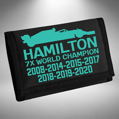 Lewis Hamilton Wallet 5 X World Champion 2018 Number 44