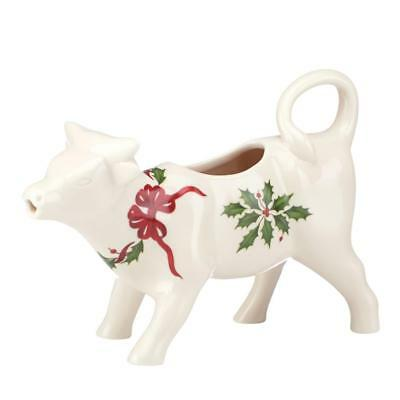 Lenox HOLIDAY Cow Creamer Holly Berry Christmas Gift ~New without box