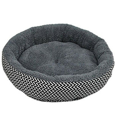 1X(Cushion warm couch bed for pet puppy dog cat in winter-Grey S M1X5)