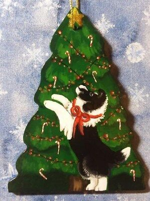 Oh Christmas Tree !!!....2 Shelties on TREE Ornament by DIANE TROESE