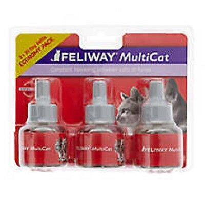 Feliway MultiCat Diffuser Refills for Cats & Kittens 3 Pack
