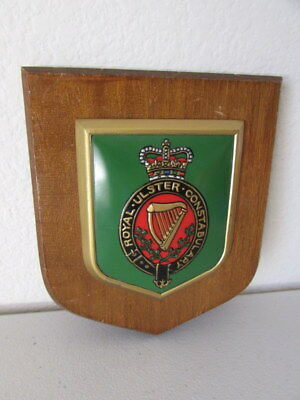 Royal Ulster Constabulary Crest Plaque Heraldic Shields Hand Painted