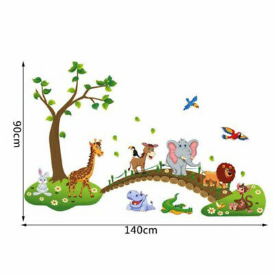 Cartoon Animals Wall Decal Stickers for Kids Baby Nursery Room Decor Removable