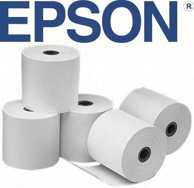 24 x Thermal Paper Receipt/Docket Rolls 80.80mm Epson TM-T20 TMT20 T88V T88VI