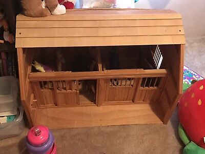 Wood Horse Stable / Barn for Breyer Horses, w Accessories, Very Large