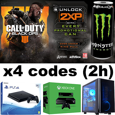 Call Of Duty Black Ops 4 - Double XP Codes x4 = 2 Hours - Double XP SUPER FAST