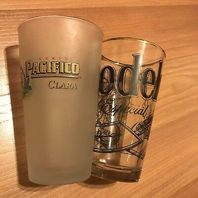 2 Beer Pint Glasses Modelo / Pacifico